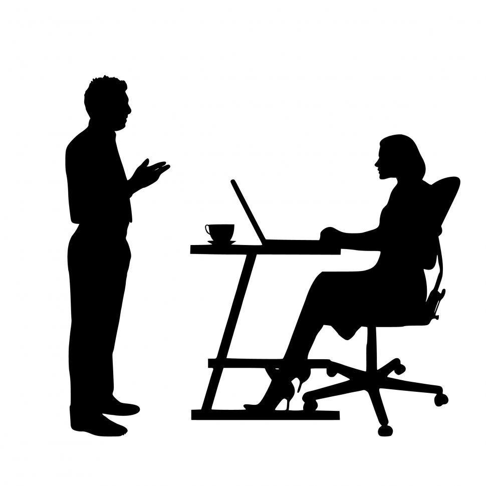 Download Free Stock HD Photo of business Discussion Silhouette  Online