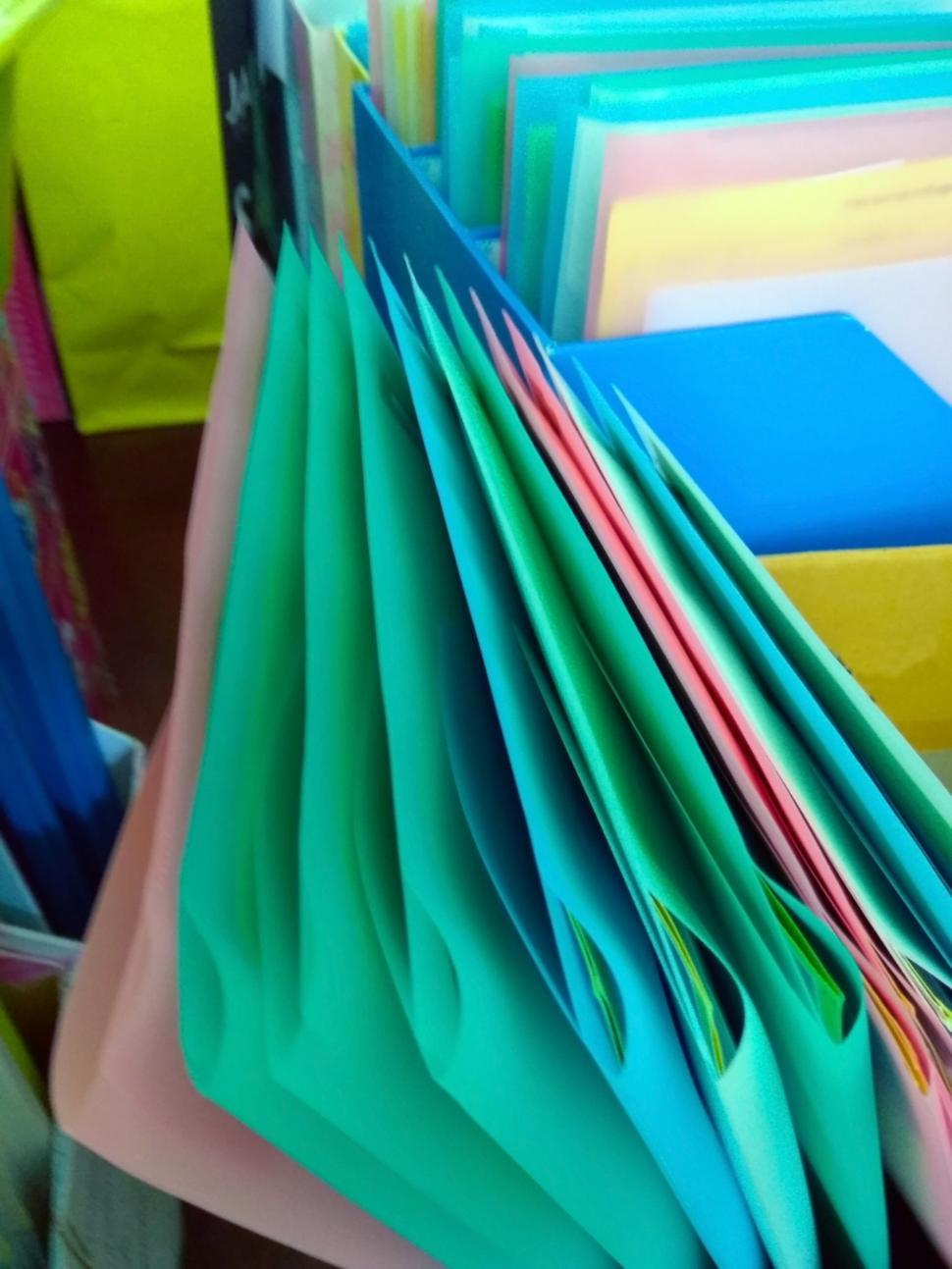 Download Free Stock HD Photo of Colorful files in an office  Online