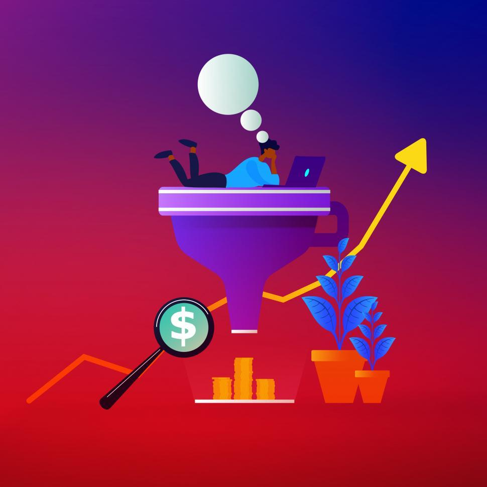 Download Free Stock HD Photo of Sales Funnel - Buying and Selling - E-Commerce - Advertising Online