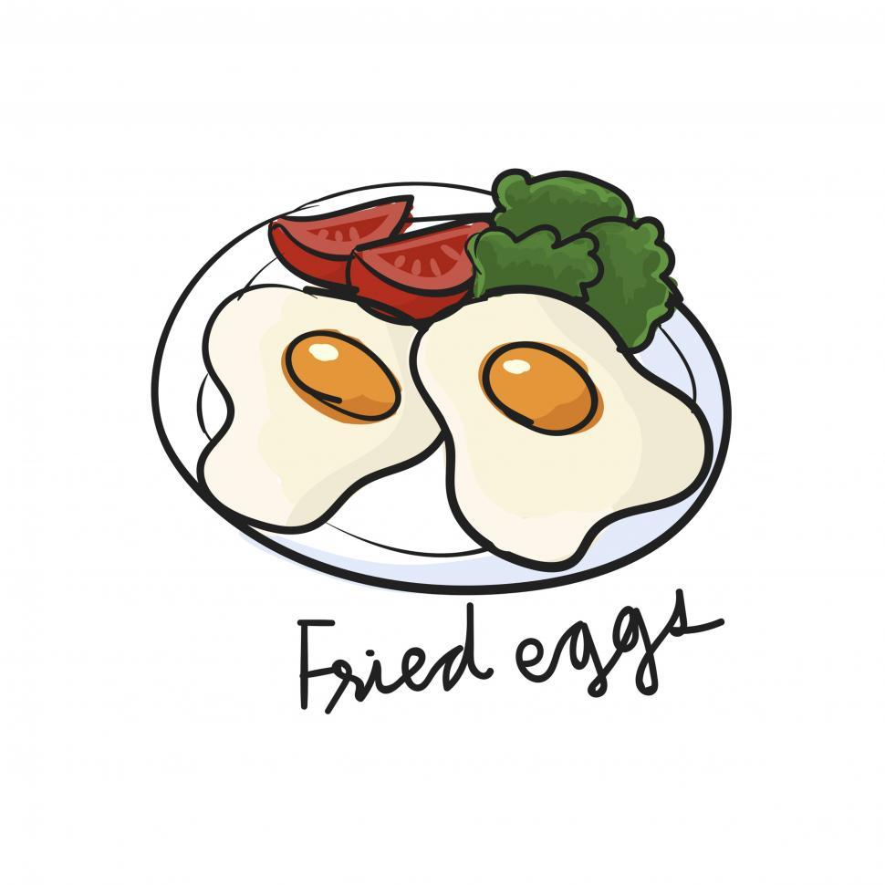 Download Free Stock HD Photo of Fried eggs vector icon Online