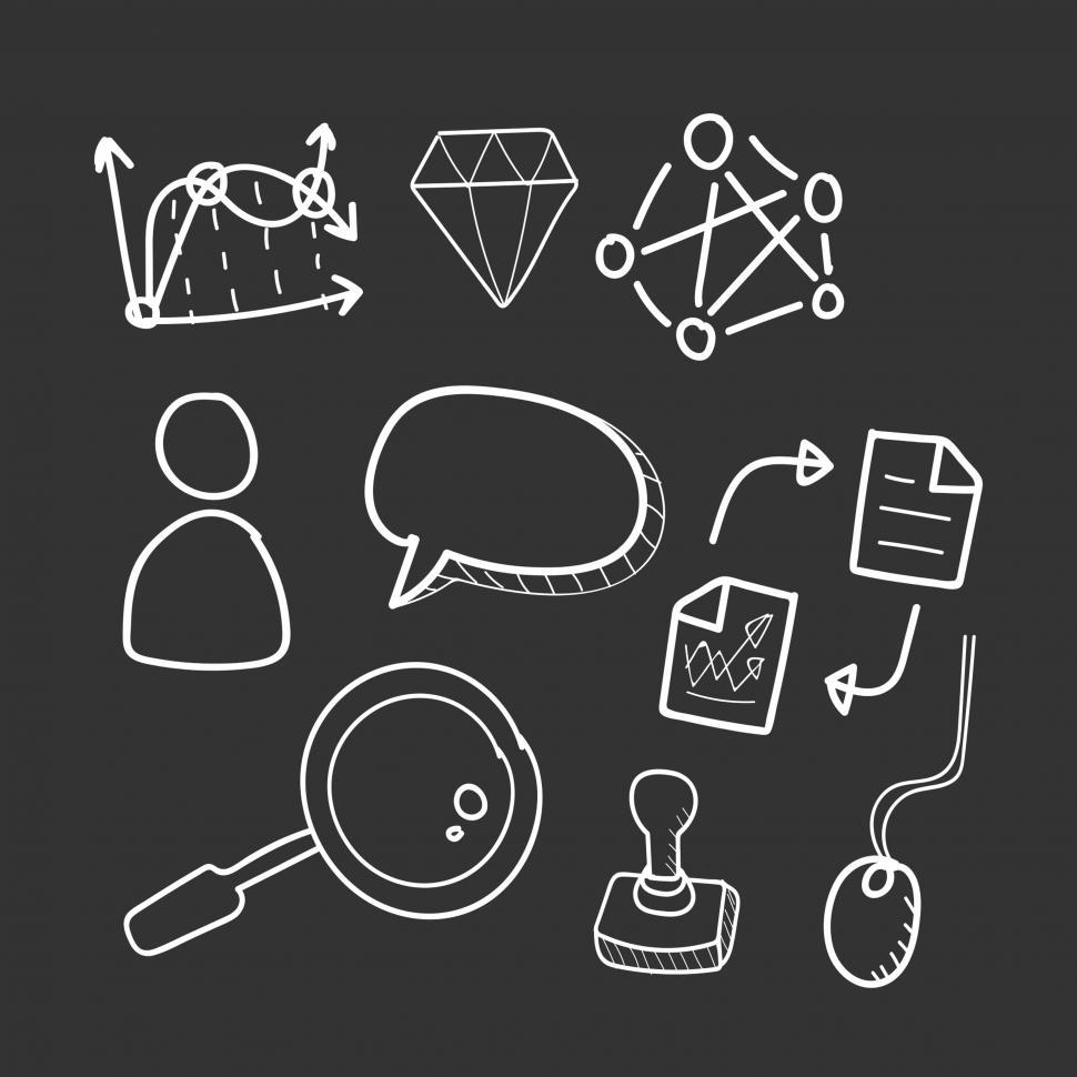 Download Free Stock Photo of Business icons vector