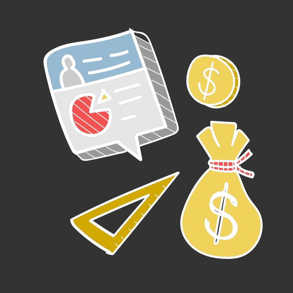Download Free Stock Photo of Business and finance icons vector
