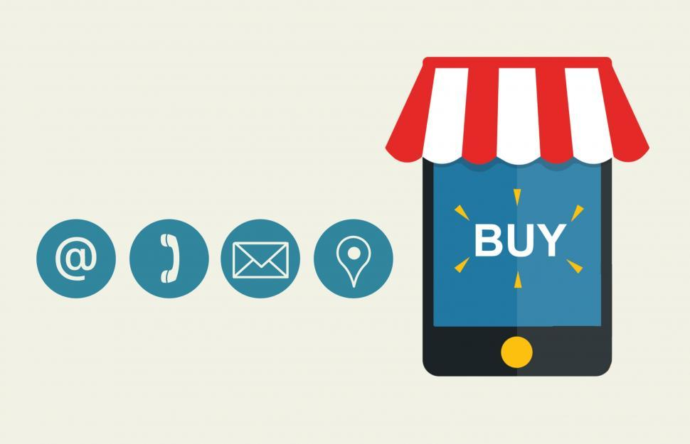 Download Free Stock Photo of Online shop contact