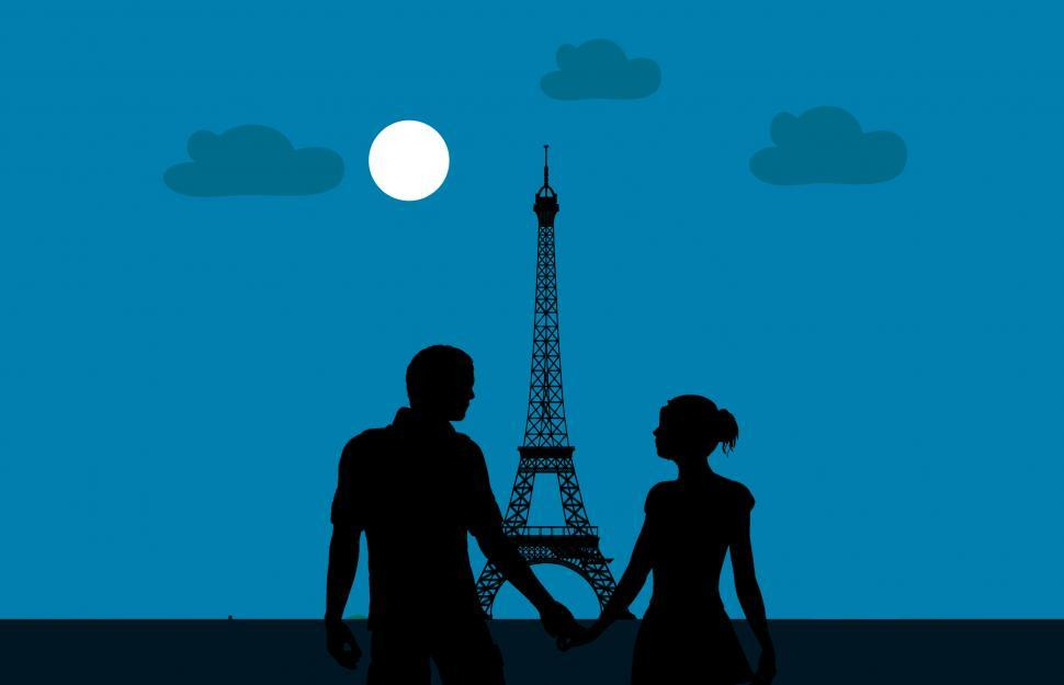 Download Free Stock Photo of Couple in Paris