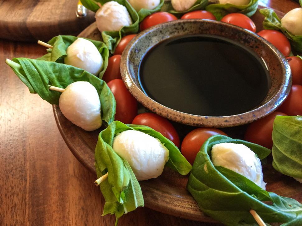 Download Free Stock Photo of Fresh Appetizer - Caprese Skewers