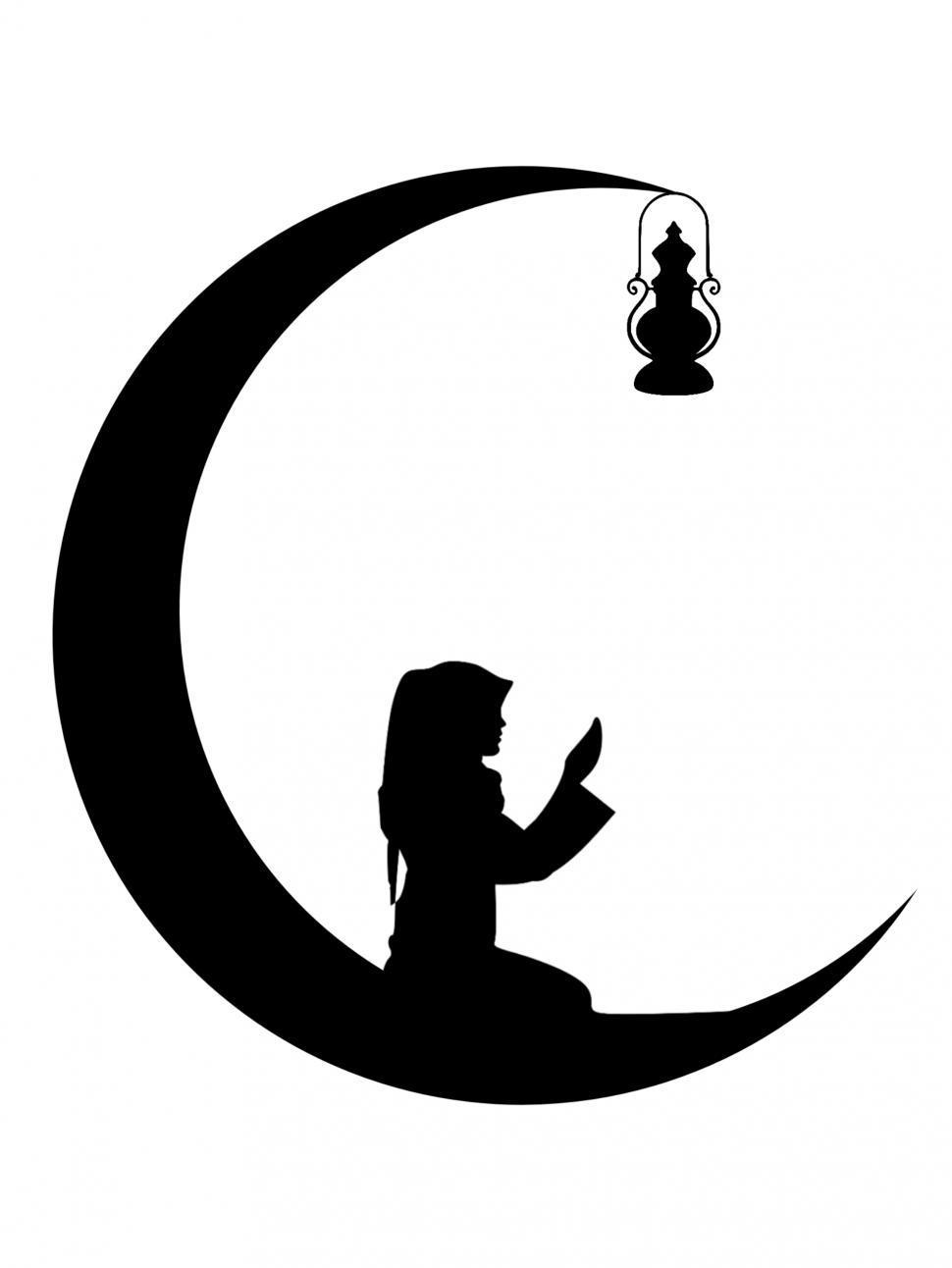 Download Free Stock Photo of Ramadan Mubarak Silhouette