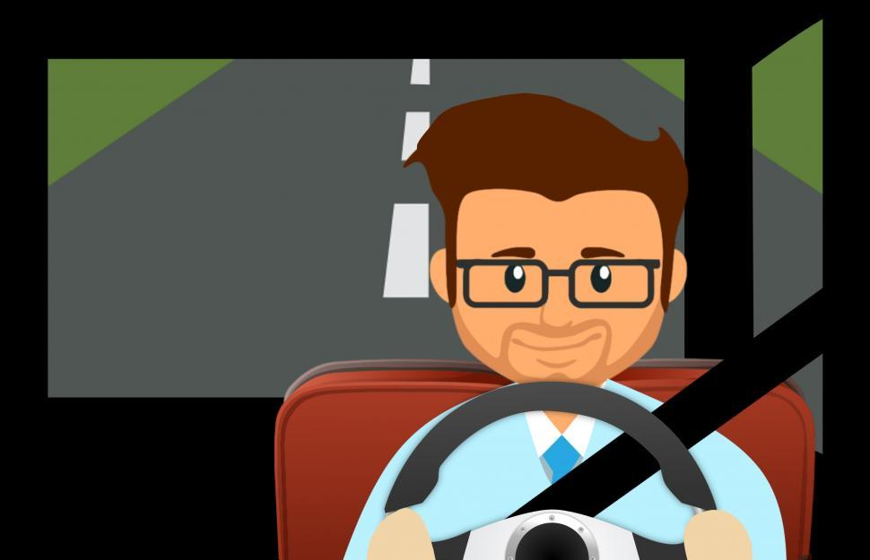Download Free Stock Photo of Man driving car