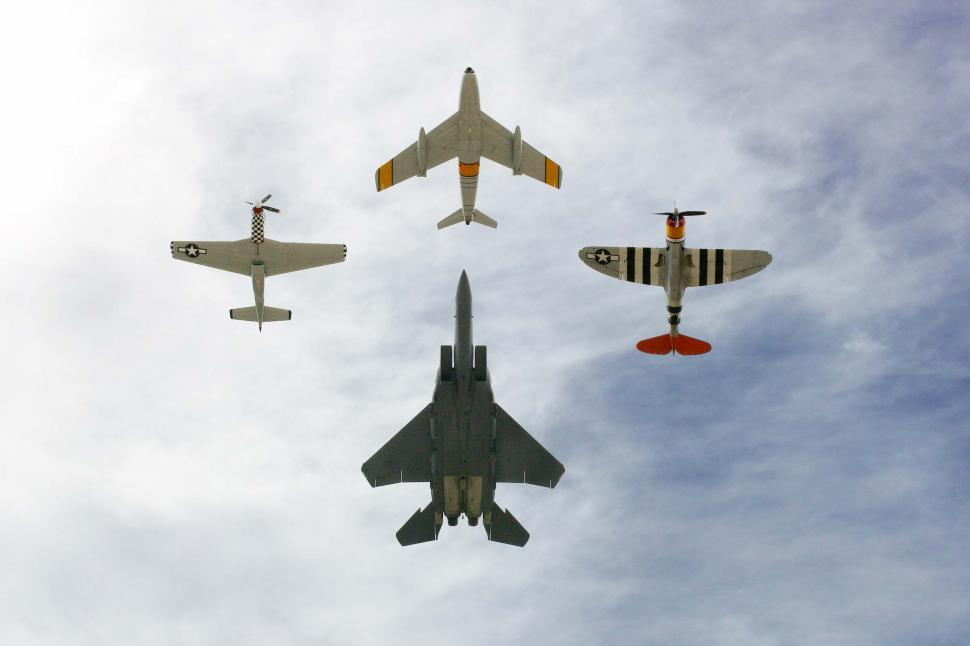 Download Free Stock Photo of Planes flying in formation