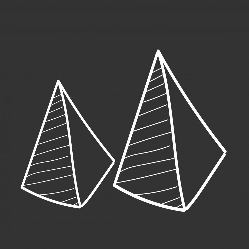 Download Free Stock Photo of Pyramid vector icons