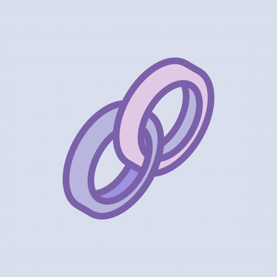 Download Free Stock HD Photo of Wedding rings vector icon Online