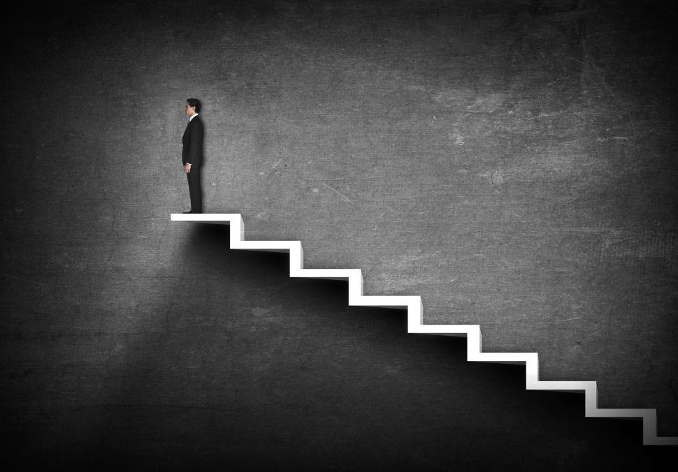 Download Free Stock HD Photo of Climbing the Corporate Ladder - Career Ladder - Ambition - Confi Online
