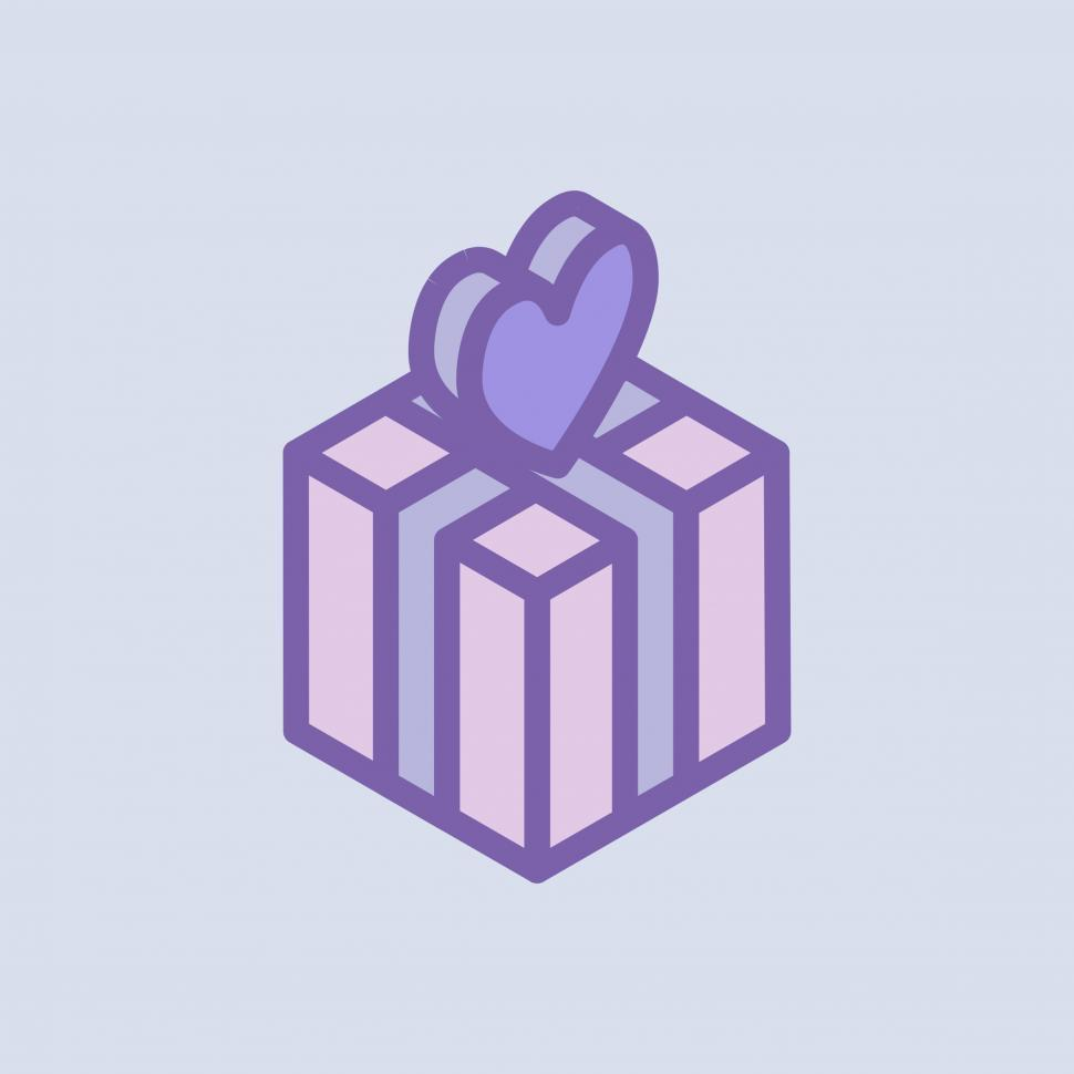 Download Free Stock HD Photo of Valentine s day gift vector icon Online