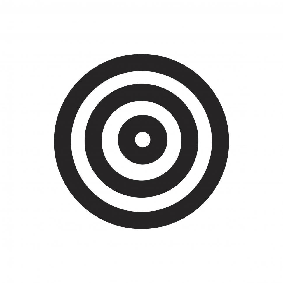 Download Free Stock HD Photo of Target icon vector Online