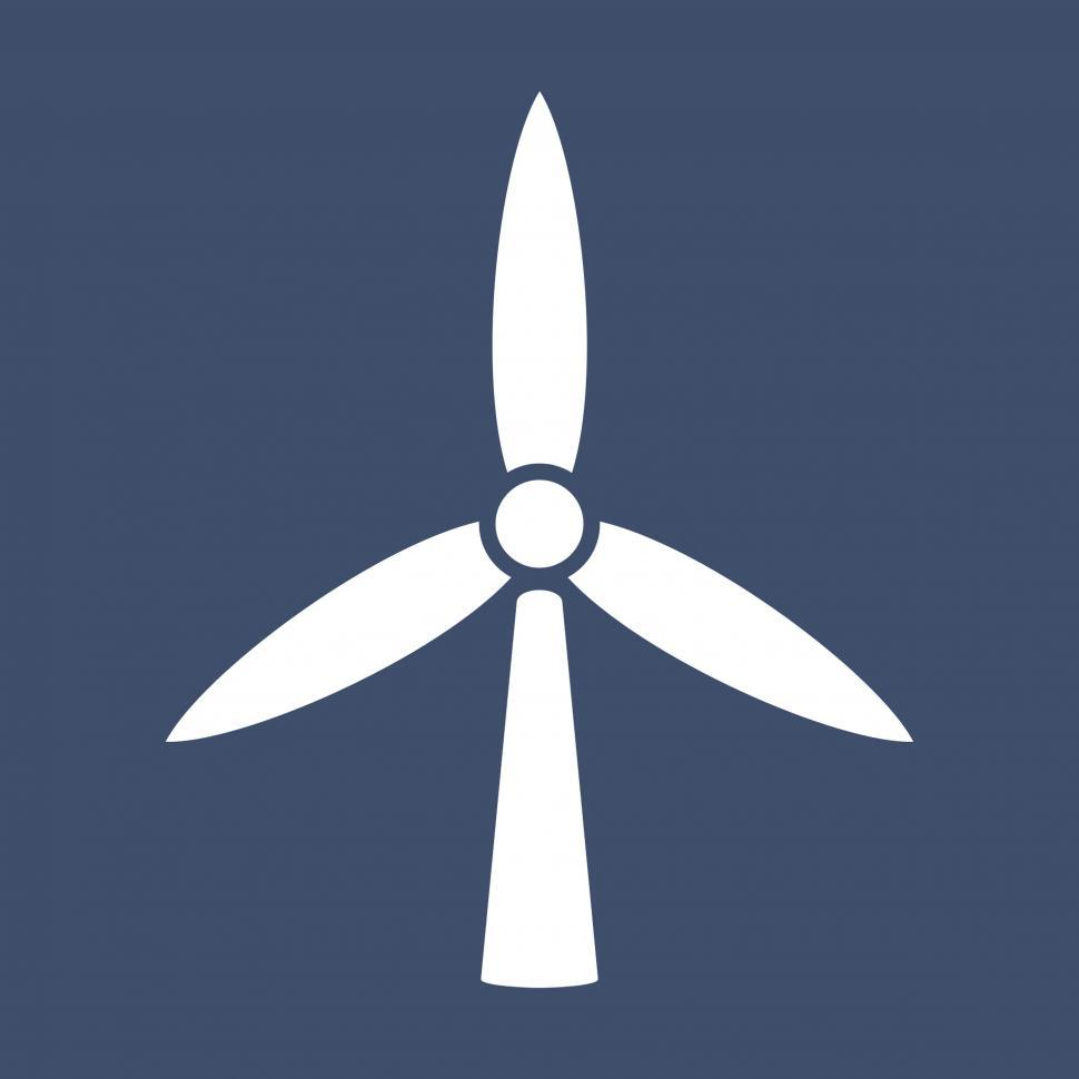 Download Free Stock Photo of Windmill vector icon