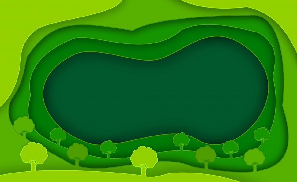 Download Free Stock Photo of Abstract Green Background and Trees - With Copyspace - Ecology a
