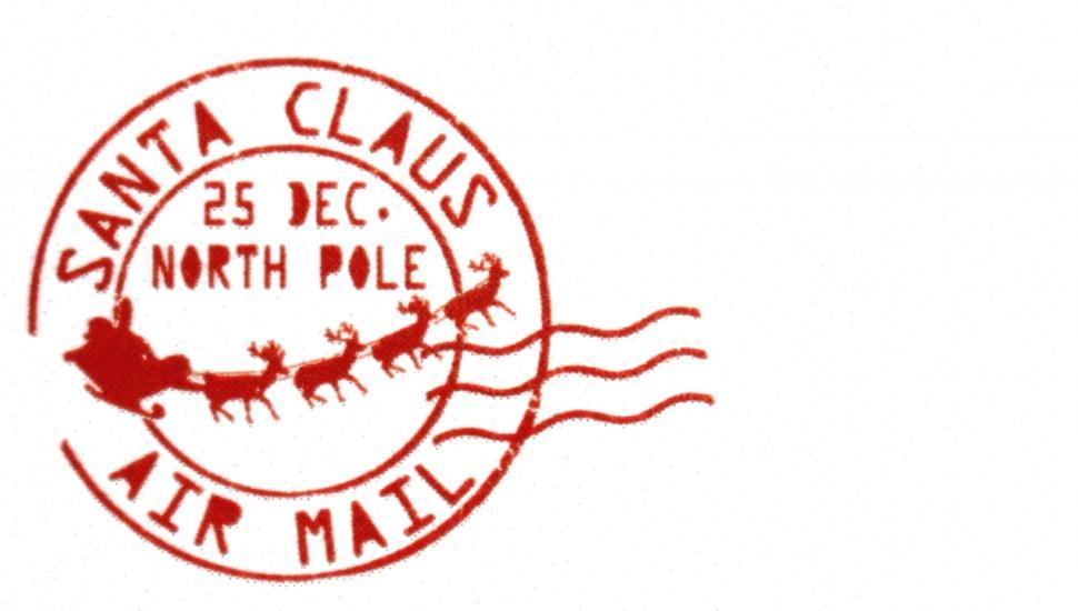Download Free Stock Photo of Santa Claus Christmas Post Mark Stamp