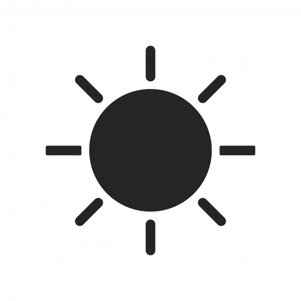 Download Free Stock Photo of Shining Sun vector icon