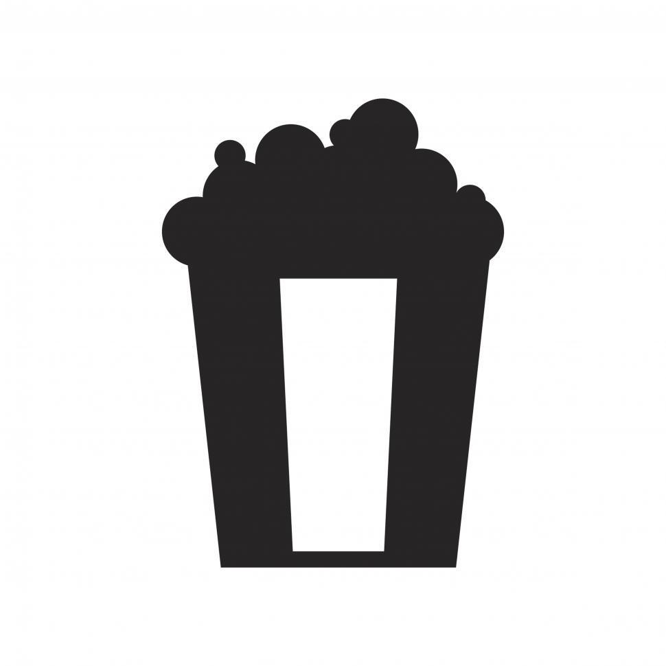 Download Free Stock Photo of Popcorn bucket vector icon