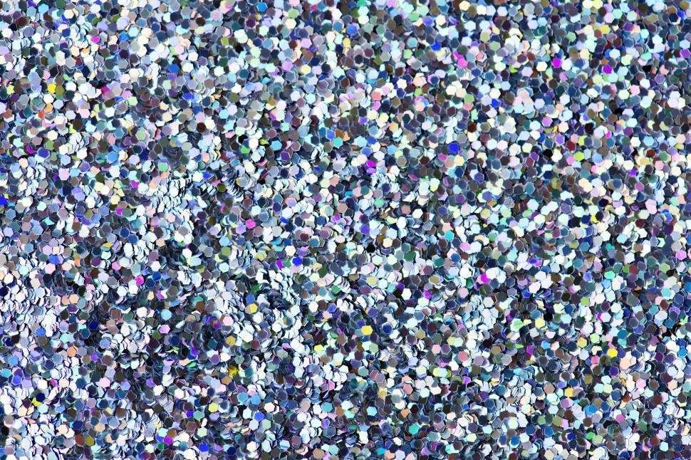 Download Free Stock HD Photo of Blue and violet hexagonal glass glitter sparkles Online