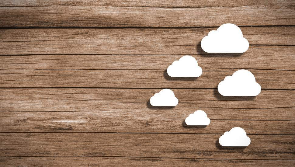 Download Free Stock HD Photo of Cloud Computing - Wooden Background with Copyspace Online