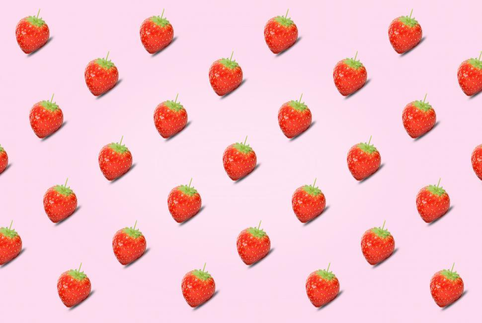 Download Free Stock HD Photo of Healthy Eating - Strawberries - Abstract Pattern Online