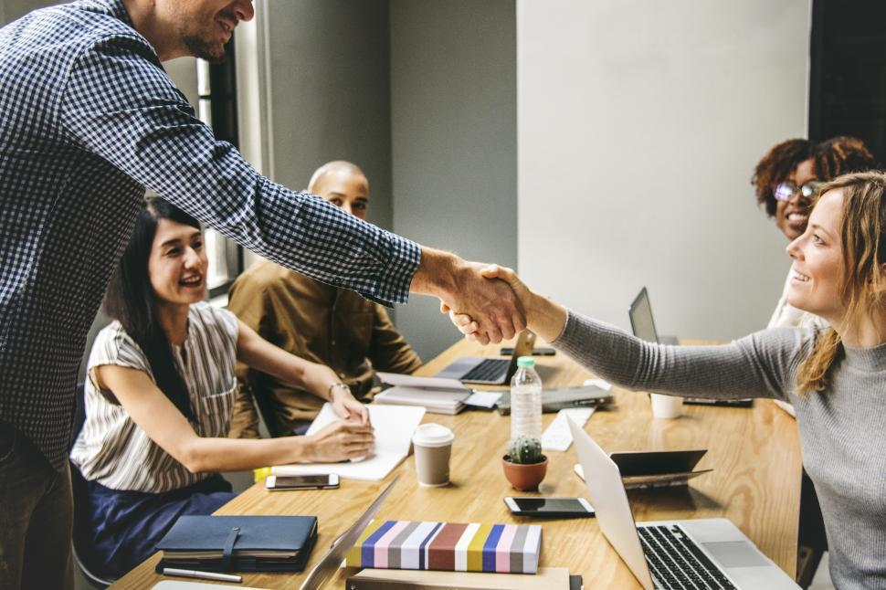 Download Free Stock Photo of Handshake during a meeting
