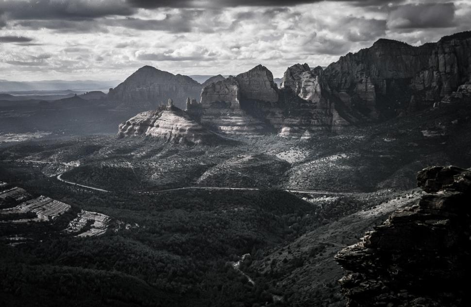 Download Free Stock Photo of Schnebly Hill Vista Overlook Near Sedona Arizona
