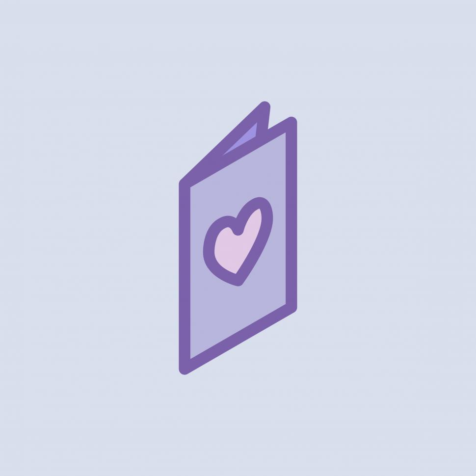 Download Free Stock HD Photo of Valentine s day card vector icon Online