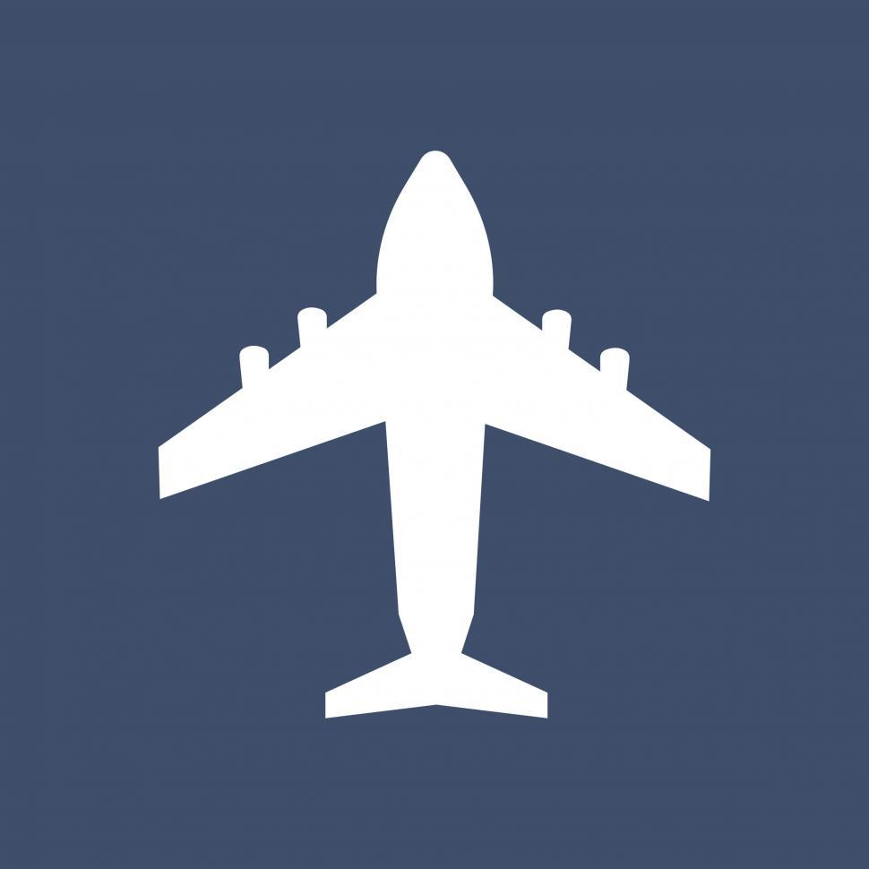 Download Free Stock Photo of Airplane vector icon
