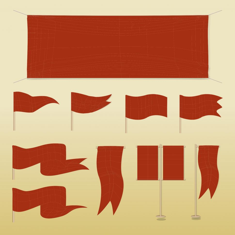 Download Free Stock HD Photo of Flag banner icons illustration Online