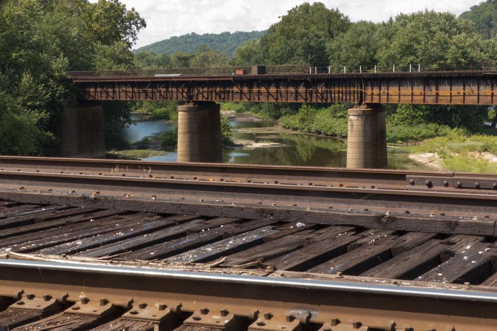 Download Free Stock Photo of CSX Railroad Bridges