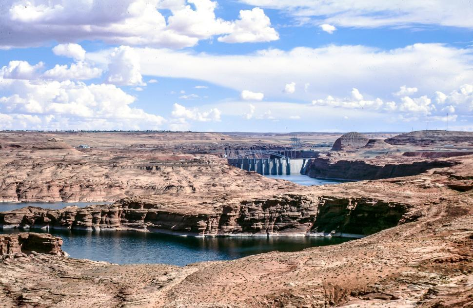 Download Free Stock Photo of Glen Canyon Dam