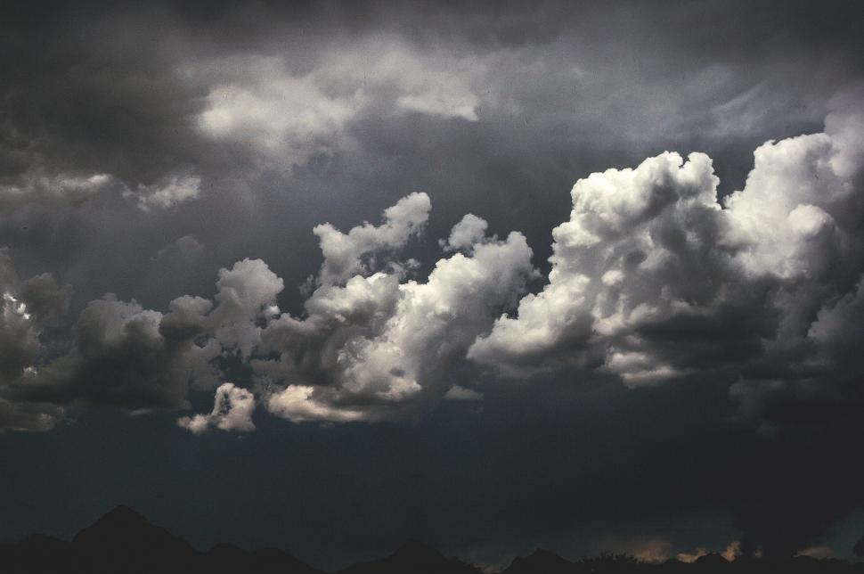 Download Free Stock Photo of Dark clouds - Fluffy Forms and Dramatic Sky