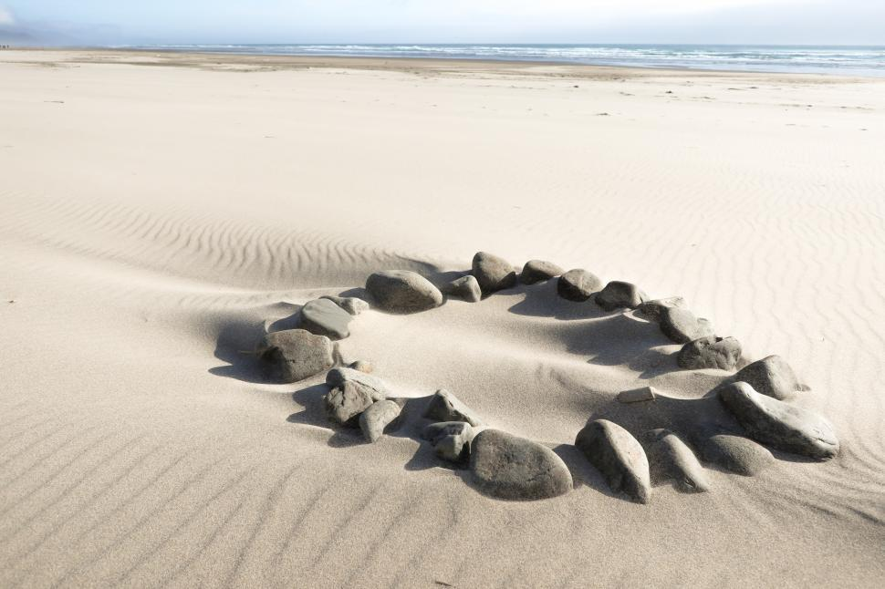 Download Free Stock HD Photo of Fire Ring on the Beach Online
