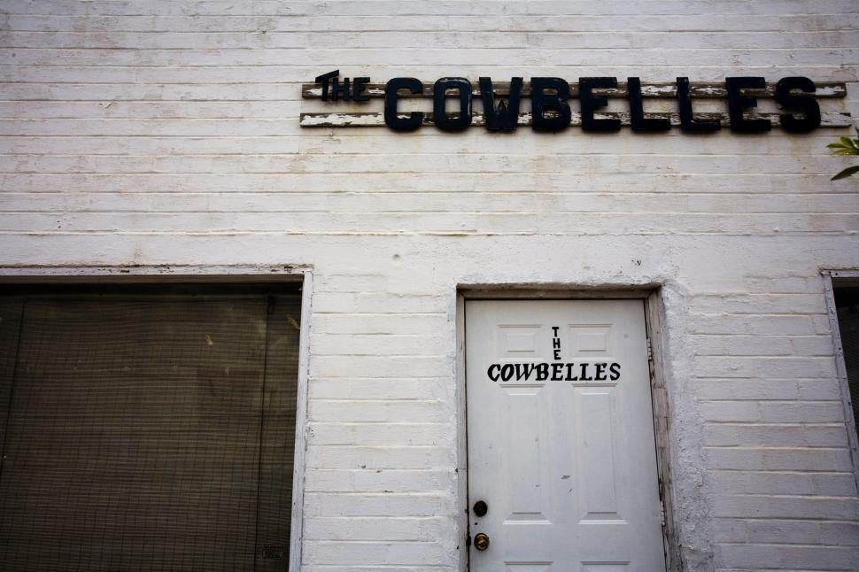 Download Free Stock Photo of cowbells lodge building