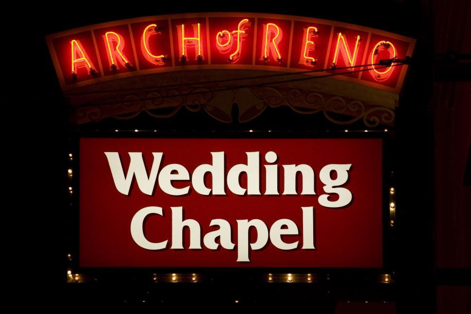 Download Free Stock HD Photo of arch of reno wedding chapel Online