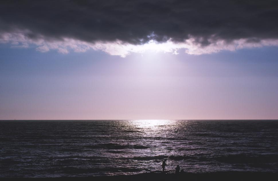 Download Free Stock HD Photo of Tranquil Flat Ocean Online