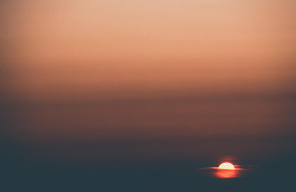 Download Free Stock Photo of Matte Sunset