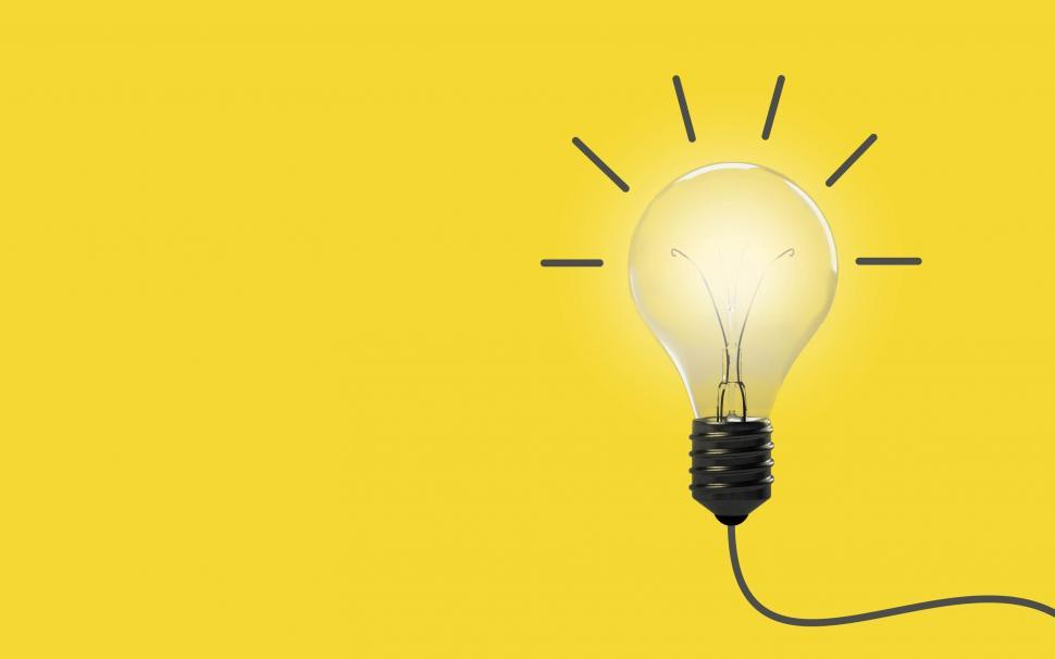 Download Free Stock HD Photo of Good Idea - Concept with Light Bulb and Copyspace Online