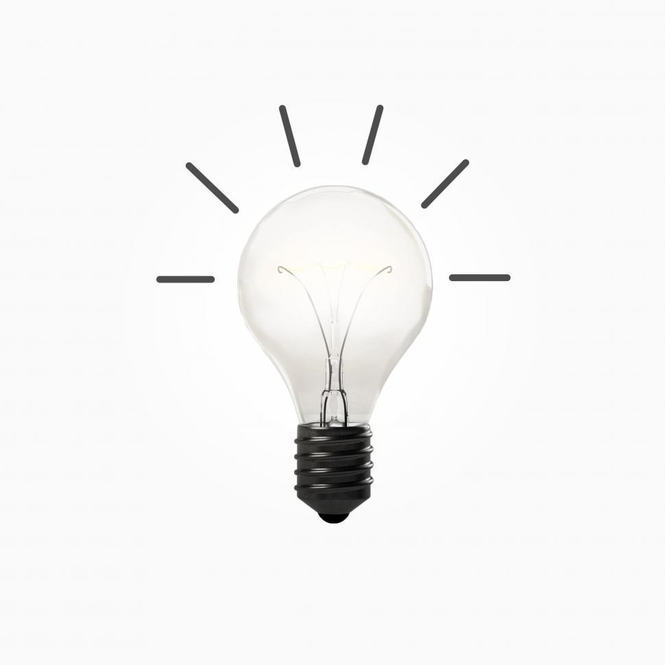 Download Free Stock Photo of Good Idea - Concept with Light Bulb