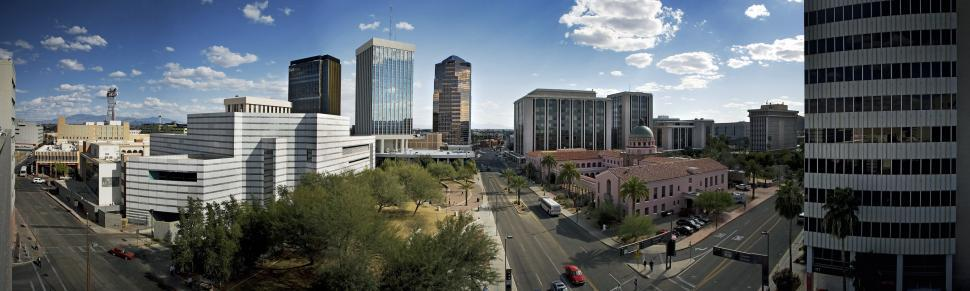Download Free Stock Photo of Downtown Tucson Panorama
