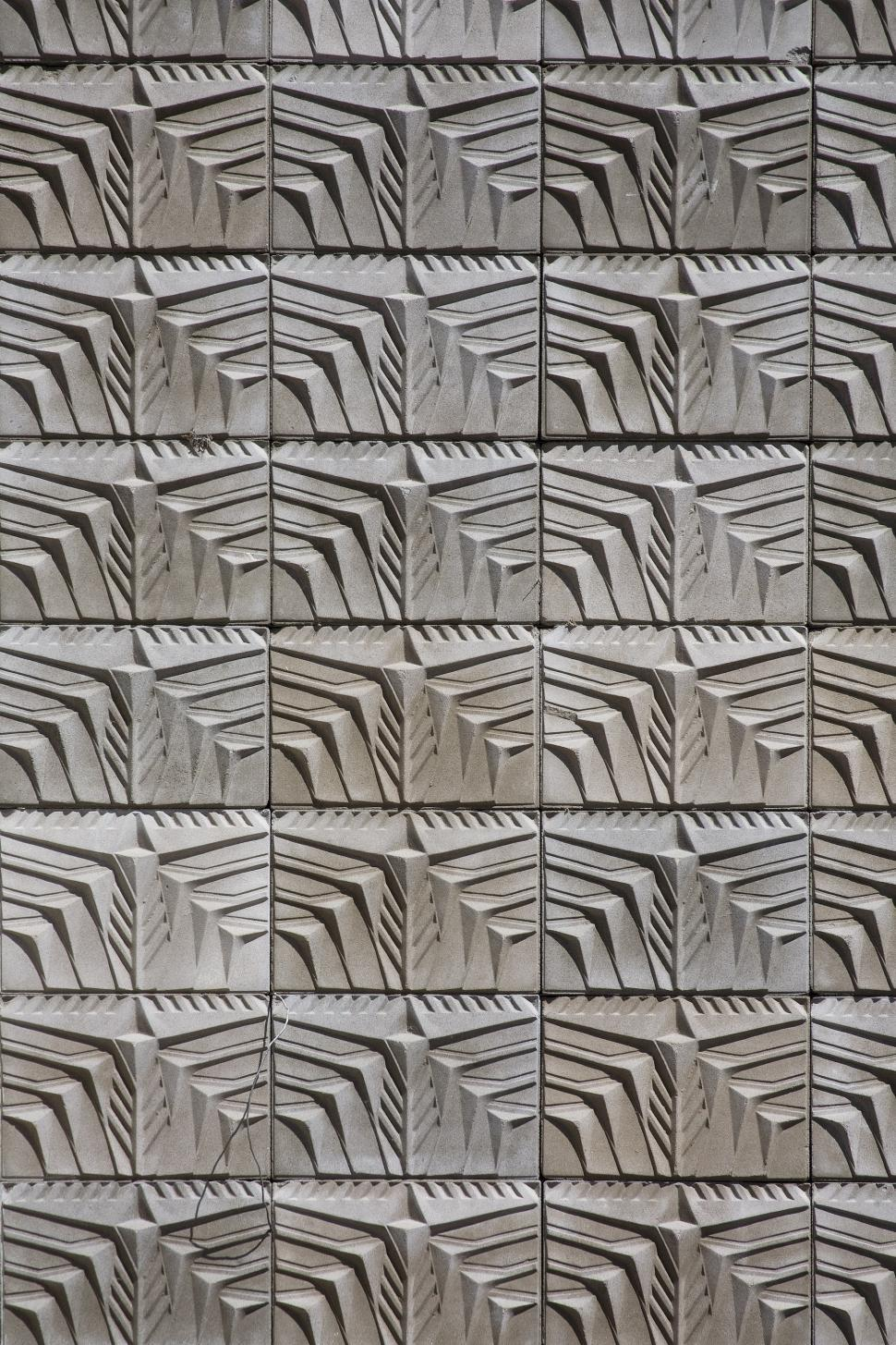 Download Free Stock Photo of cast concrete pattern