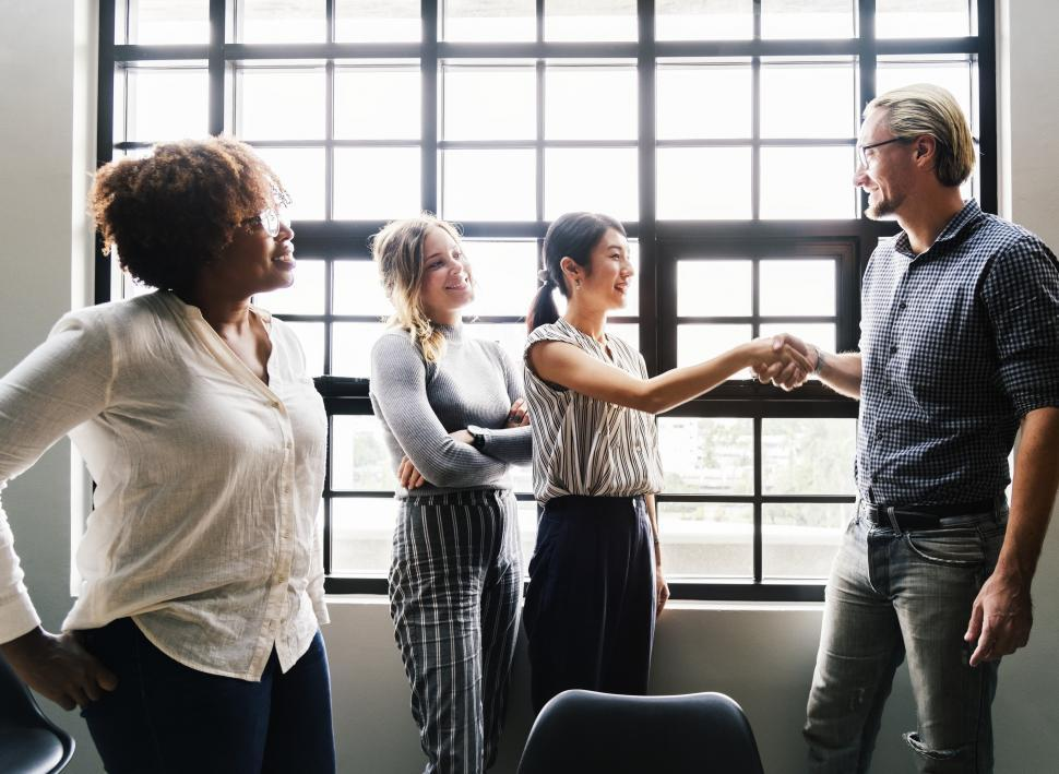 Download Free Stock HD Photo of Handshake between two business people Online