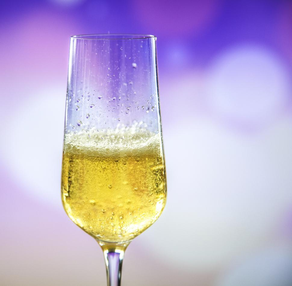 Download Free Stock HD Photo of Close up of a champagne glass on light background Online