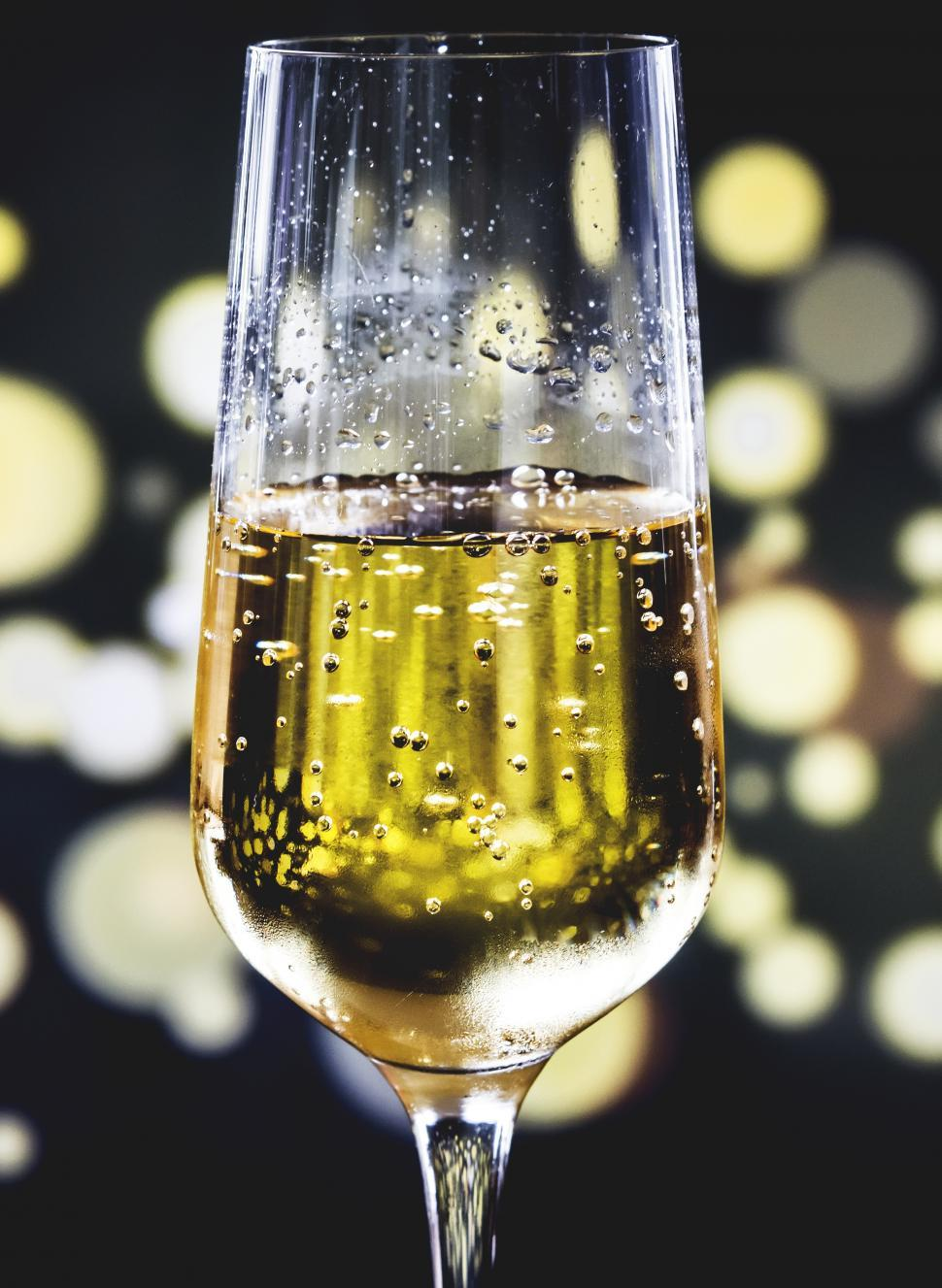 Download Free Stock HD Photo of Close up of a champagne glass and dark background Online