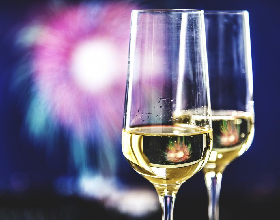 Download Free Stock HD Photo of Close up of two champagne glasses Online