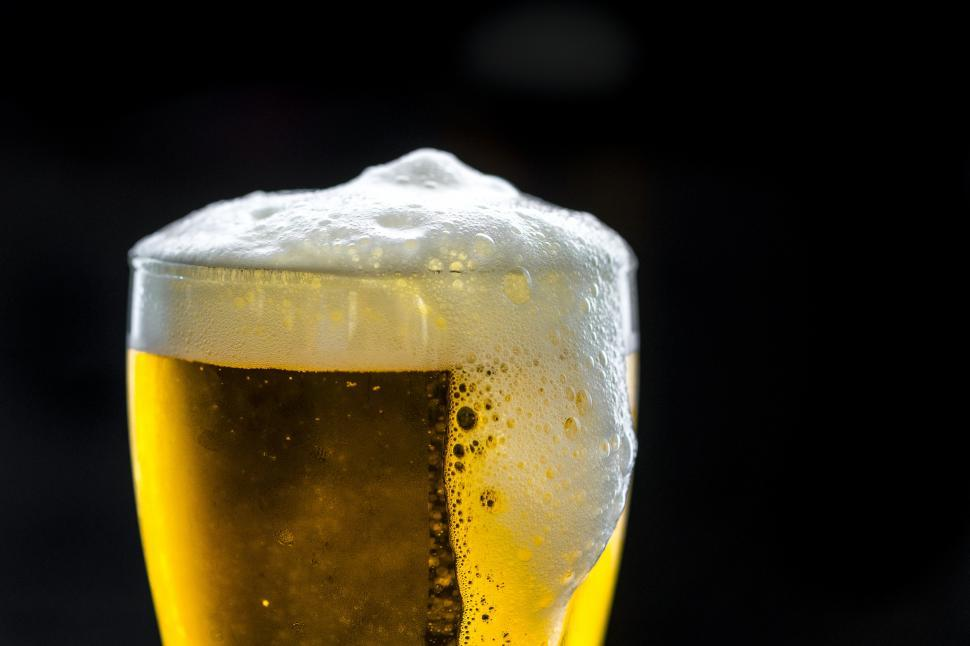Download Free Stock Photo of Close up of beer foam