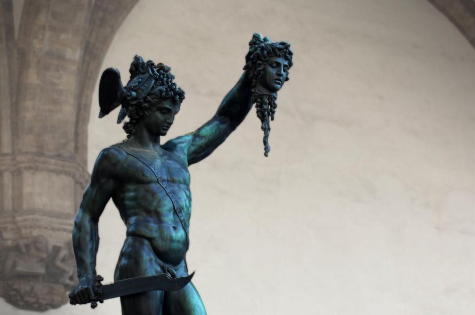 Download Free Stock HD Photo of Perseus with the Head of Medusa - Cellini - Piazza della Signori Online