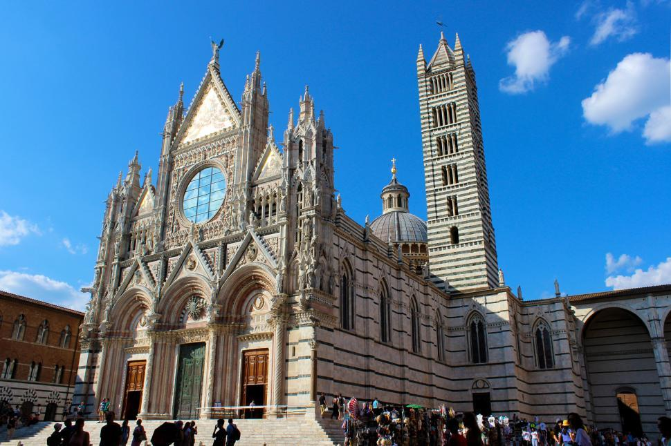 Download Free Stock HD Photo of Siena Cathedral - Duomo di Siena - Tourists  Online