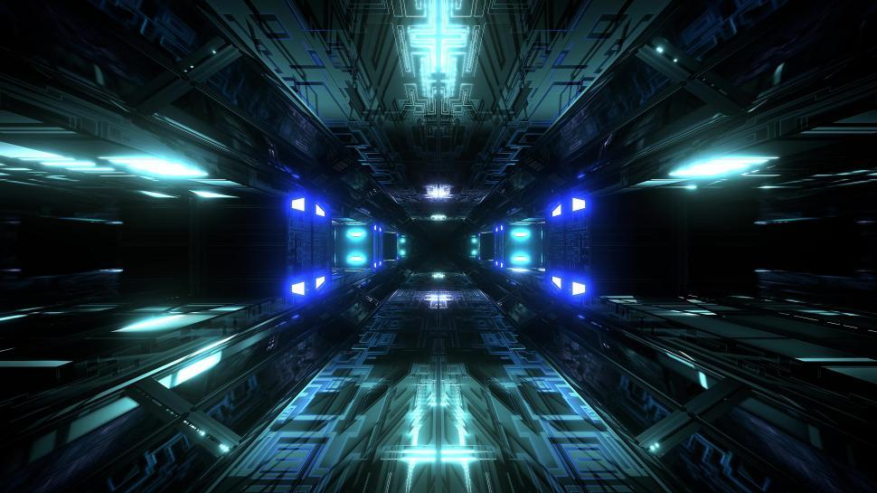 Download Free Stock HD Photo of futuristic science-fiction tunnel corridor 3d illustration background wallpaper  Online